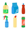 home cleaning essentials set laundry detergent vector image