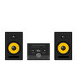 home stereo theater music cartoon music system vector image vector image