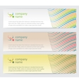 Invitation cards with lines set vector image vector image