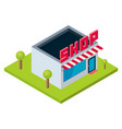isometric perspective isolated shop store vector image