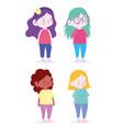 little girls cartoon character female avatar vector image vector image