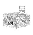 lose weight fast and easy text background word vector image vector image