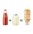 mayochup sauce recipe concept vector image vector image