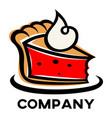 modern cake logo vector image vector image