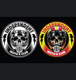 motorcycle club badge vector image vector image