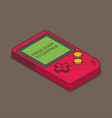 old gadget isometric flat eps10 vector image vector image