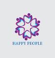 people business logoconnecting peoplehappy people vector image vector image