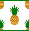 pineapple leaf seamless pattern tropical fruits vector image