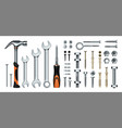 realistic mechanic tools 3d construction vector image