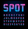 ribbon font alphabet with latin letters and vector image vector image