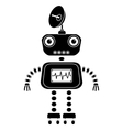 robot silhouette vector image vector image