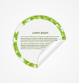 round sticker with green leaves vector image