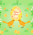 Seamless texture easter eggs and birds spring vector image vector image