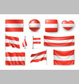 set austria flags banners banners symbols flat vector image