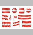 set austria flags banners banners symbols flat vector image vector image
