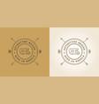 set of camper car logo design template home vector image