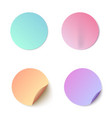set of colorful round blank vector image vector image