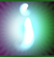 single light blue neon letter j of vector image vector image