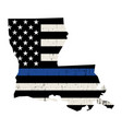 state louisiana police support flag vector image vector image
