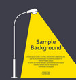 street lighting pole with sample text vector image vector image
