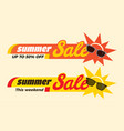 summer sale label price tag banner badge template vector image vector image