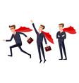 super businessman men cartoon vector image vector image