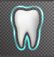 tooth protection glow field realistic 3d vector image vector image