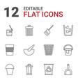 trash icons vector image vector image