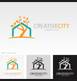 tree creative home logo vector image vector image