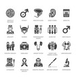 urology flat glyph icons urologist vector image