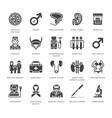 urology flat glyph icons urologist vector image vector image