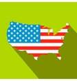 USA map flag flat icon vector image vector image