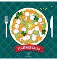 Vegetable salad vector image vector image