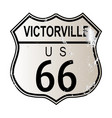 victorville route 66 vector image vector image