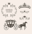 vintage royalty frame with crown vector image vector image
