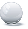 white glass ball vector image vector image