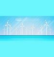 wind turbine energy renewable water station sea vector image