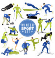 winter sports set vector image