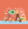 zero waste green eco friendly lifestyle ecology vector image vector image