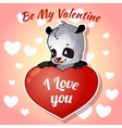Cute panda for Valentines Day vector image