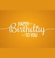 birthday banner logo design background vector image