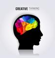 creative mind vector image