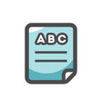 abc book paper icon cartoon vector image
