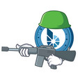 army bitshares coin character cartoon vector image vector image