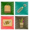 assembly flat shading style icons education school vector image vector image