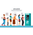 atm queue vector image vector image