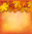 autumn maple leaves on blurry background vector image vector image