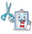barber clipboard character cartoon style vector image