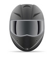 black motorcycle helmet front view isolated on a vector image vector image