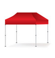 blank outdoor red marquee tent booth mock vector image